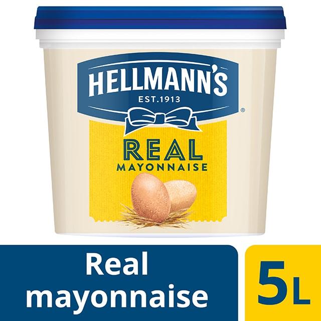 Hellmann's Real  Μαγιονέζα 5 lt - HELLMANN'S REAL μαγιονέζα πλούσια γεύση, σφικτή υφή, αυθεντικό χρώμα.
