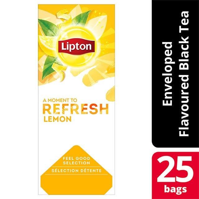 Lipton Μαύρο Τσάι Λεμόνι 25 Φακελάκια -