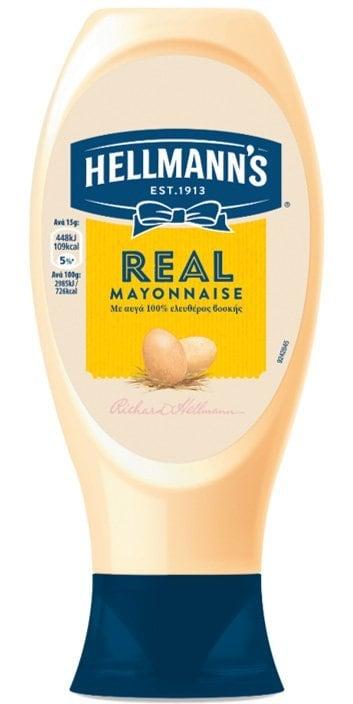 Hellmann's Real  Μαγιονέζα Top Down 430 gr