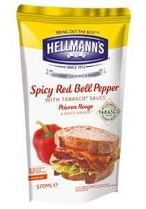 Hellmann's Dressing για Σάντουιτς Καυτερή Πιπεριά με Tabasco® 570 ml -